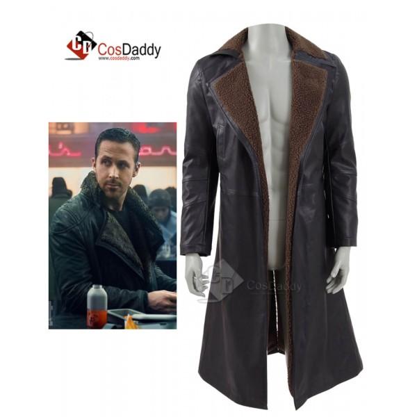Blade Runner 2049 Ryan Gosling Jacket Officer K Trench Coat Costume