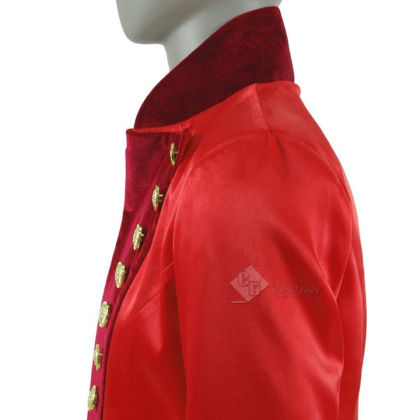 Cosdaddy The Greatest Showman P.T.Barnum Cosplay Costume red performance uniform