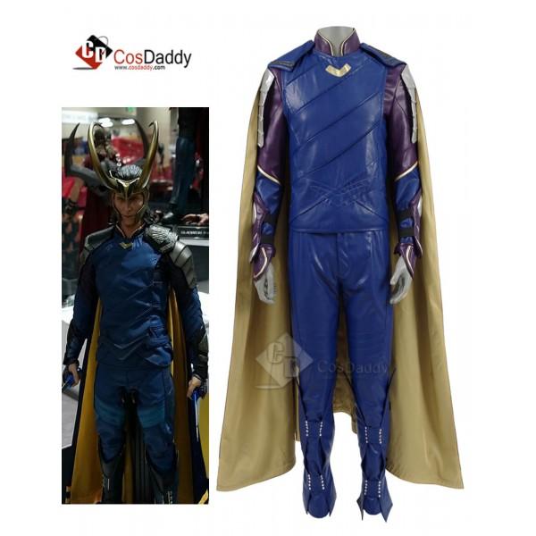 Thor 3 Ragnarok Loki Laufeyson Cosplay Costume Ful...
