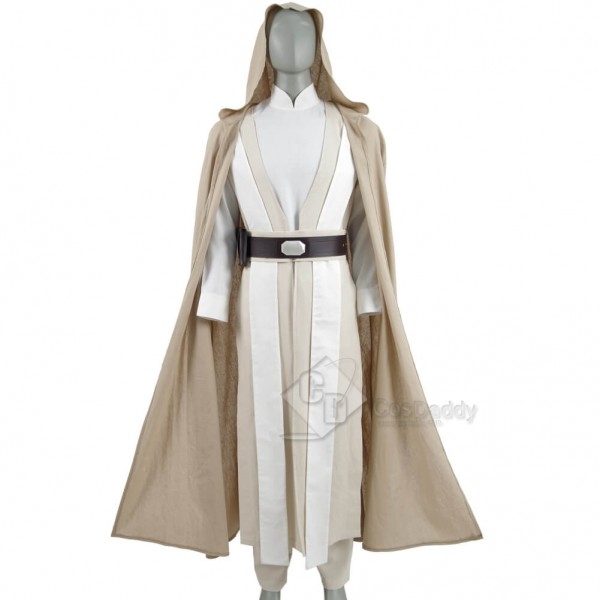 Star Wars Old Luke Skywalker Cosplay Jedi White Co...