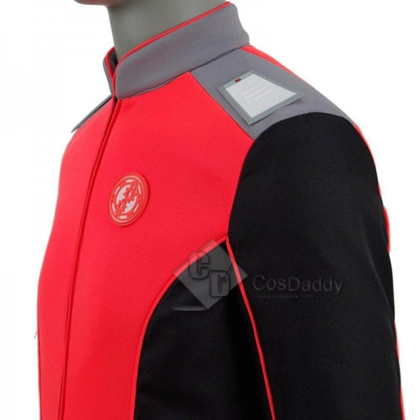 The Orville Engineering Department Mens Orange Uniforms Cosplay Costume