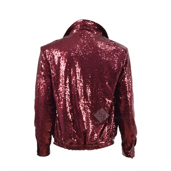Bruno Mars Red Sequins Jacket Stage Costume for Show Cosplay Costume