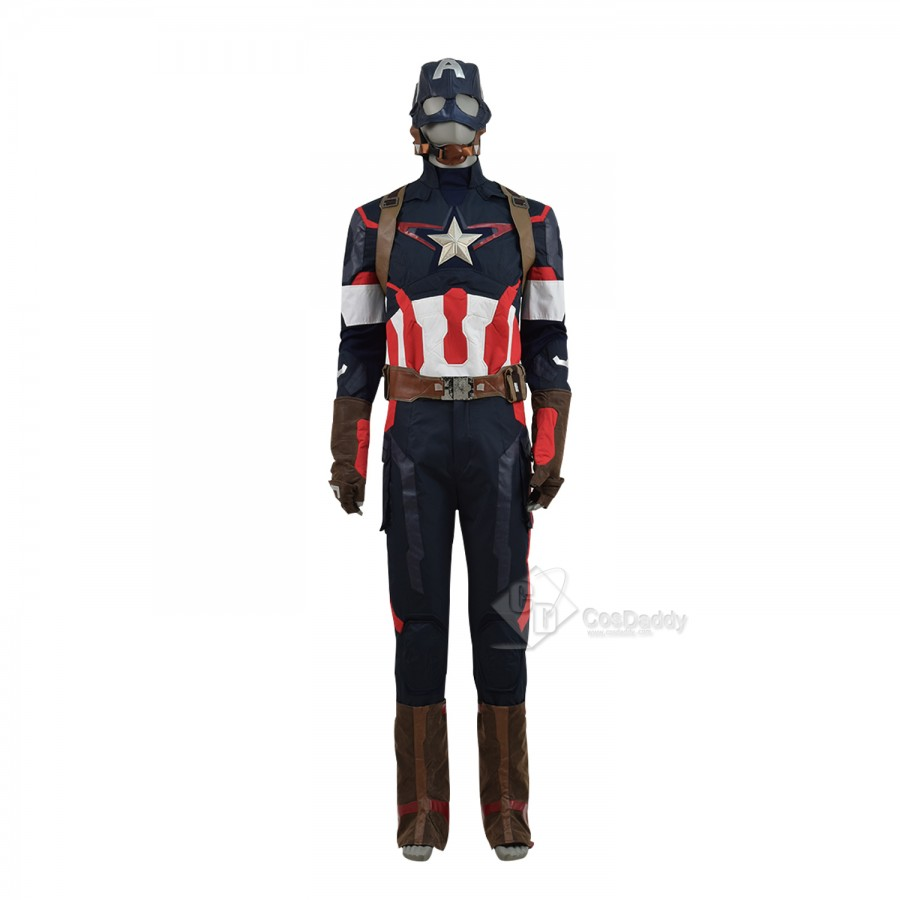 Avengers Captain America II 2 Age of Ultron Steve Rogers Uniform Cosplay Costume