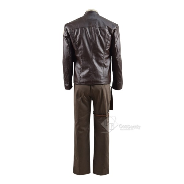 Cosdaddy Star Wars Resistance King Pilot Black Leader Poe Dameron Cosplay Costume for Men