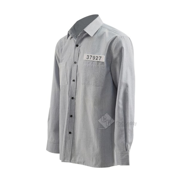 Cosdaddy The Shawshank Redemption Andy Cosplay Prison Uniform Costume