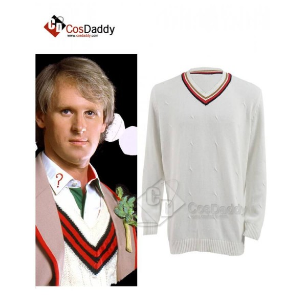 Cosdaddy Doctor Who 5th Fifth Doctor Cosplay Costume Jumpsuit Sweater