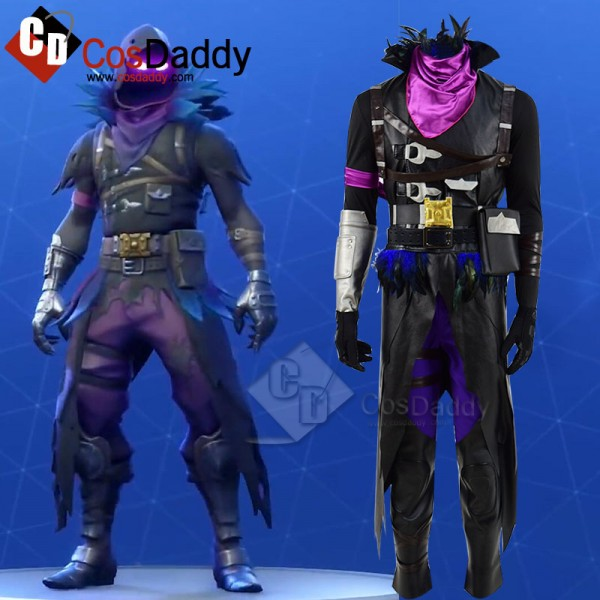 Fortnite Crow Raven Skin Cosplay Costume