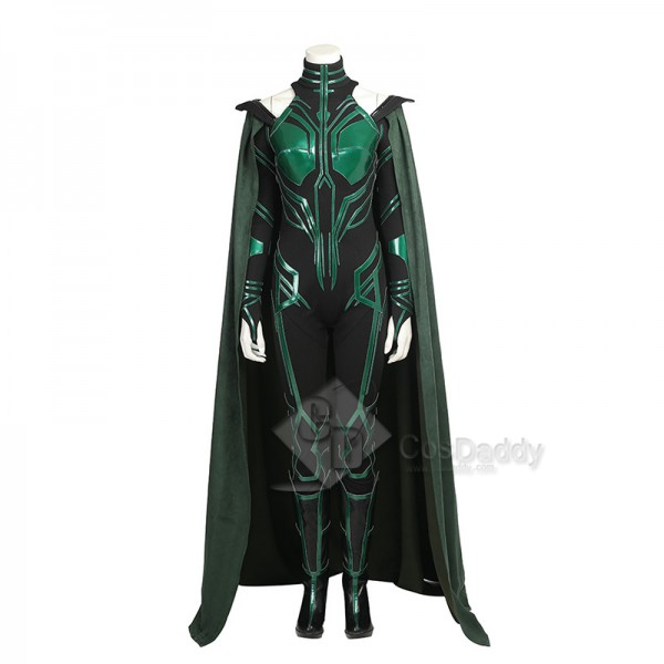 Thor 3 Ragnarok Goddess Of Death Hela Cosplay Costume With Cloak Shoes
