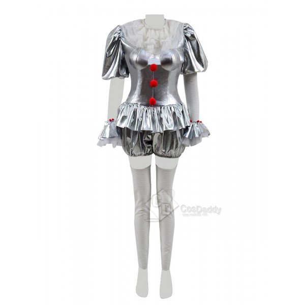 It Stephen King's It Pennywise the Dancing Clown Cosplay Costume