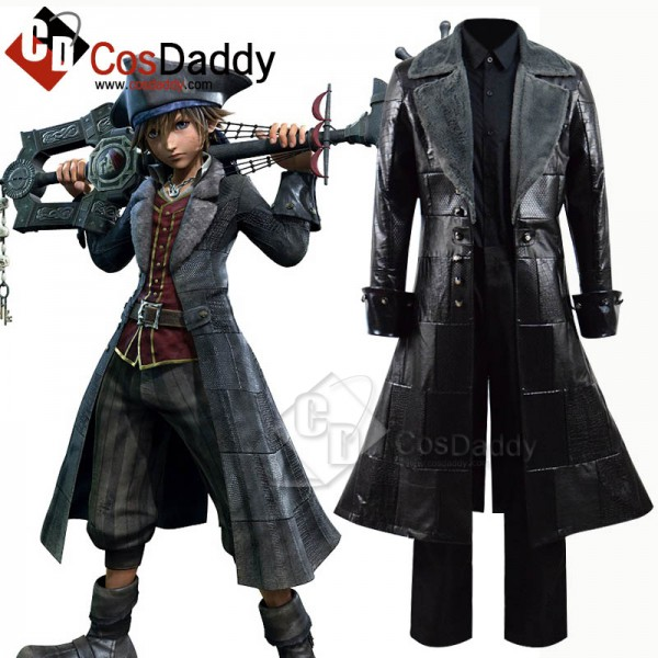 Kingdom Hearts III Sora Coat Cosplay Costume