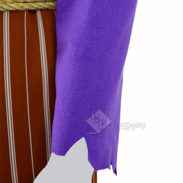 Coco (2017)  Movie Hector Light Purple Cosplay Costume