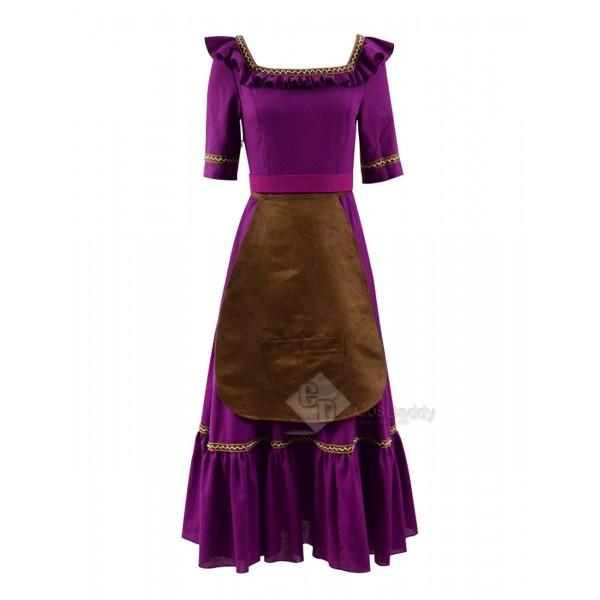 Coco (2017) Mama Imelda Cosplay Costume Purple Dress
