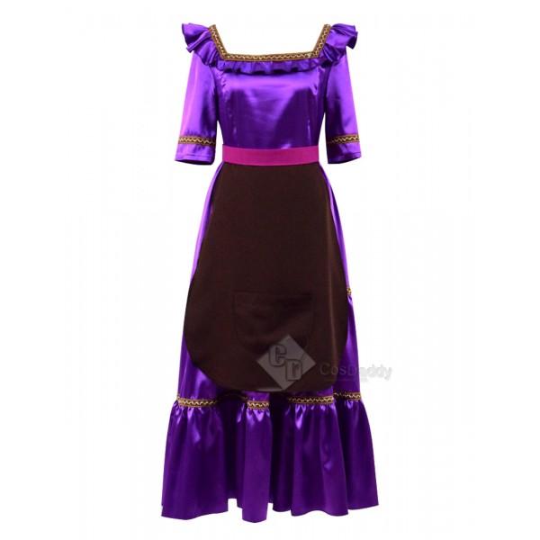Coco (2017) Mama Imelda Cosplay Costume Light Purple Dress