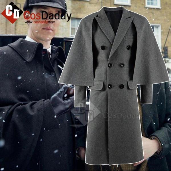 Sherlock Sherlock Holmes Cloak Coat Cosplay Costum...