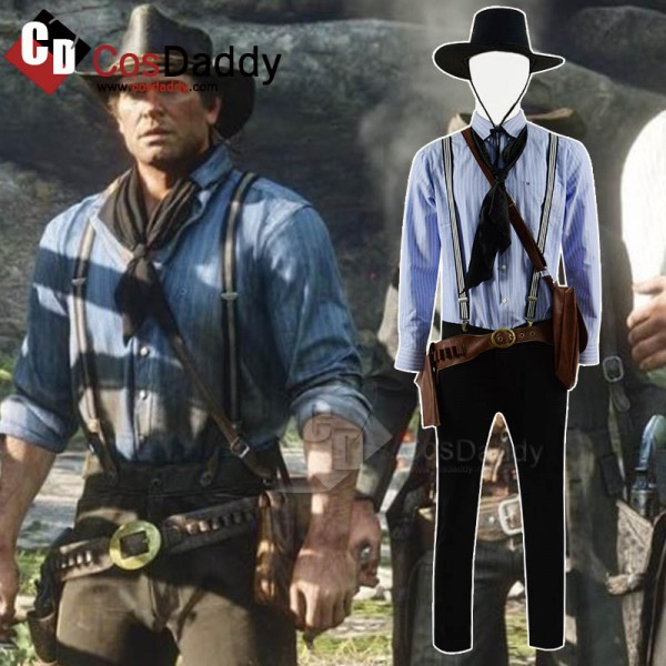 Red Dead Redemption 2 Authur Morgan Cosplay Costum...