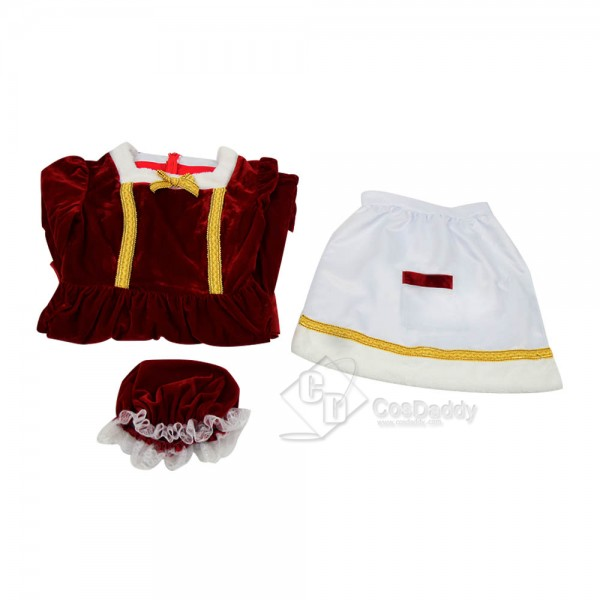 New (2018) Christmas Santa Claus Cosplay Costume Women's Party Dress