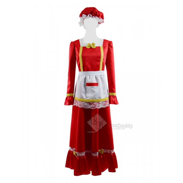 Christmas Women's Party Dress Santa Claus Cosplay ...