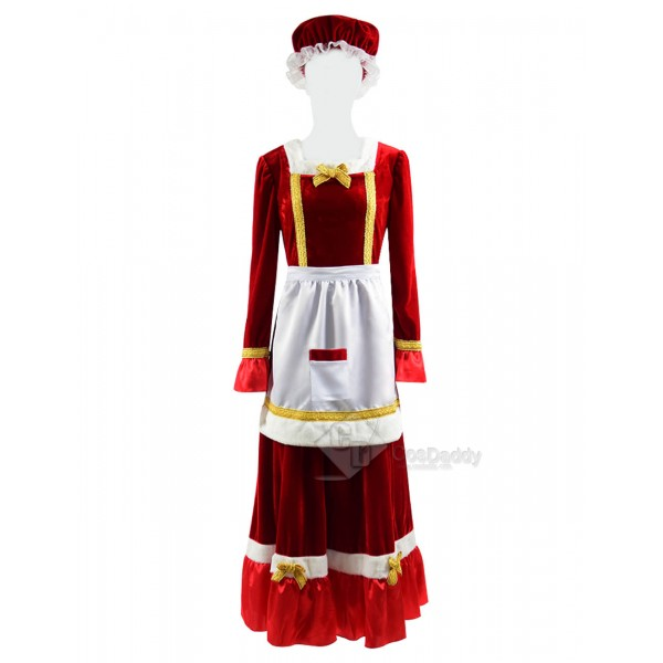 Christmas Santa Claus Cosplay Costume Women's Part...