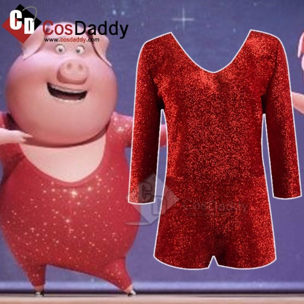 Sing Rossi Pig Jumpsuit Cosplay Costume