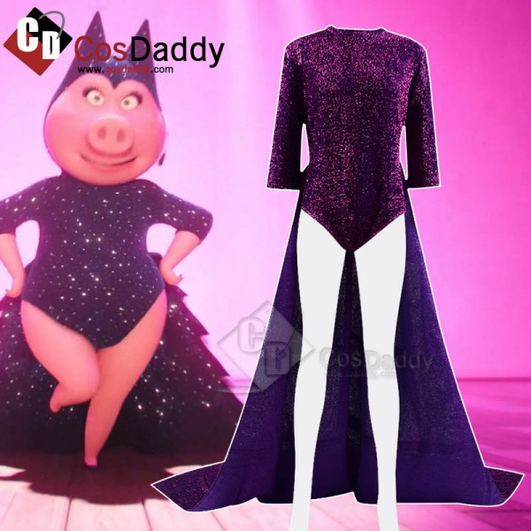 Sing Rossi Pig Purple Jumpsuit Cosplay Costume