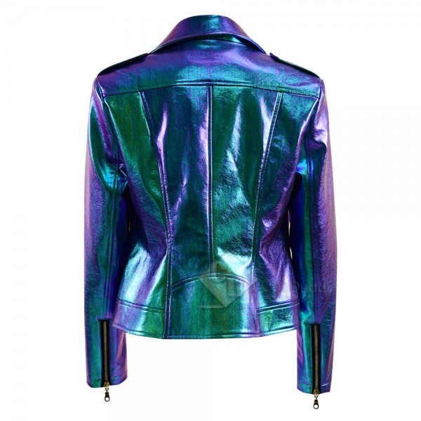 Vox Lux Young Celeste Albertine Leather Coat Cosplay Costume
