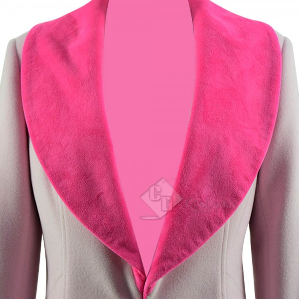 Fantastic Beasts The Crimes of Grindelwald Queenie Goldstein Pink Trench Coat Cosplay Costume