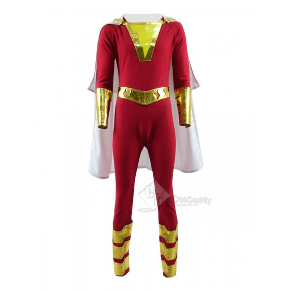 DC New 52 Shazam Billy Batson Captain Marvel Cosplay Costume