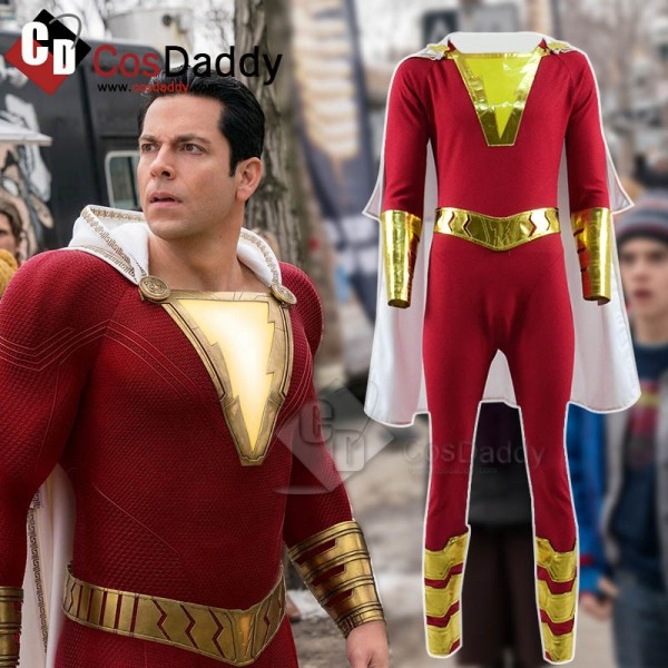 DC New 52 Shazam Billy Batson Captain Marvel Cospl...