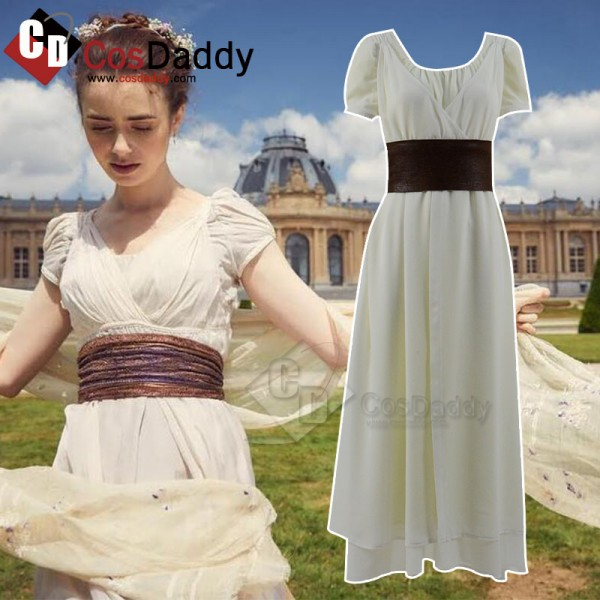 Les Misérables Fantine White Dress Cosplay Costume