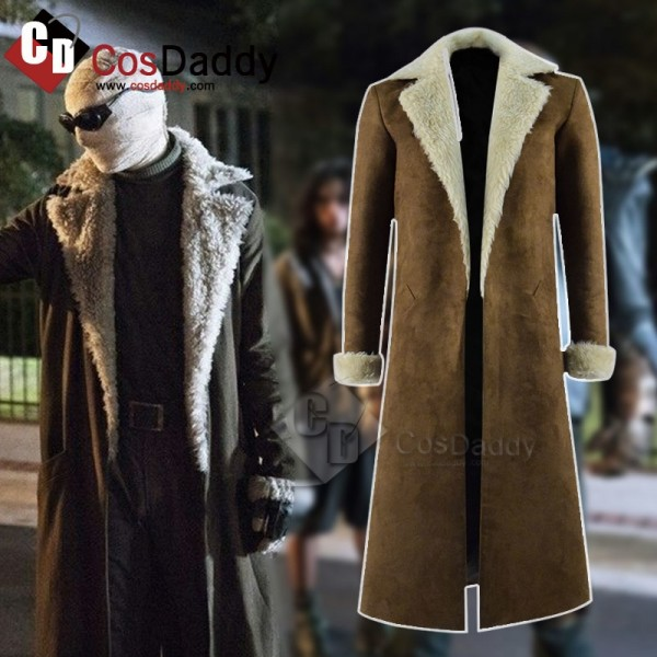 DC Doom Patrol Negative Man Trench Coat Cosplay Costume