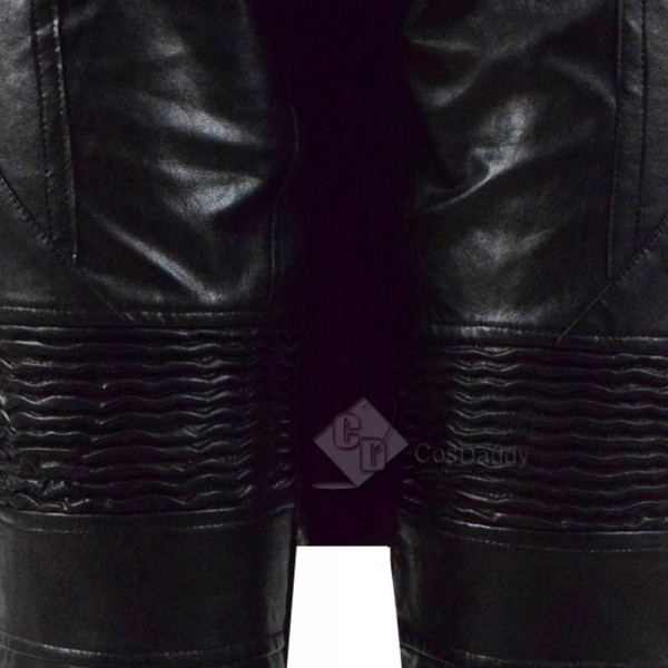 Devil May Cry V 5 DMC 5 Dante Dark Red Leather Jacket Pants Full Set Cosplay Costume