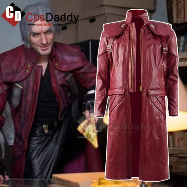 Devil May Cry V 5 Dante DMC 5 Cosplay Costume Leat...