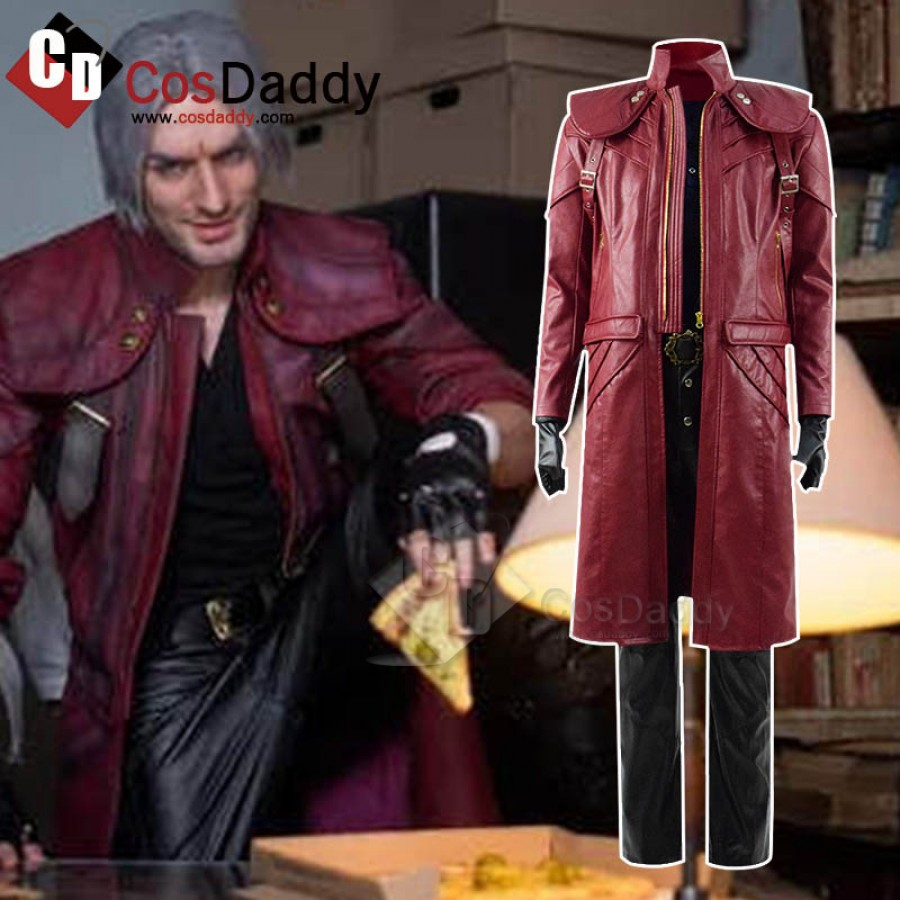 Devil May Cry Vergil Dante Cosplay Costume Men/'s Outfit Custom Made