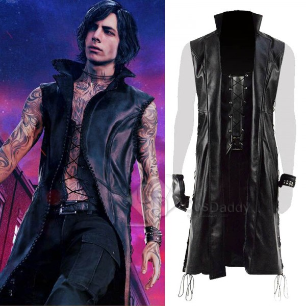 Devil May Cry 5 DMC 5 V Mysterious Man Coat Cospla...