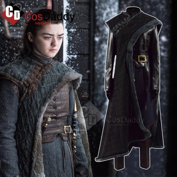 Game of thrones Season 8 Arya Stark Cosplay Costum...