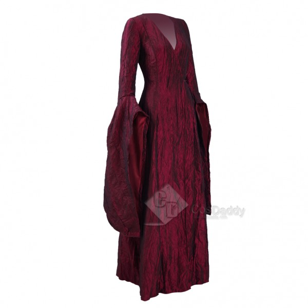 Game of Thrones Season 6 Melisandre Red Dress Cosplay Costume