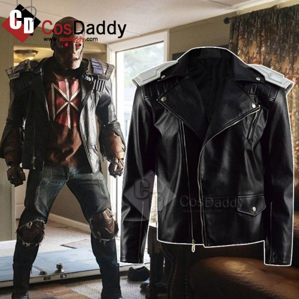 DC Doom Patrol Robotman Leather Coat Cosplay Costu...