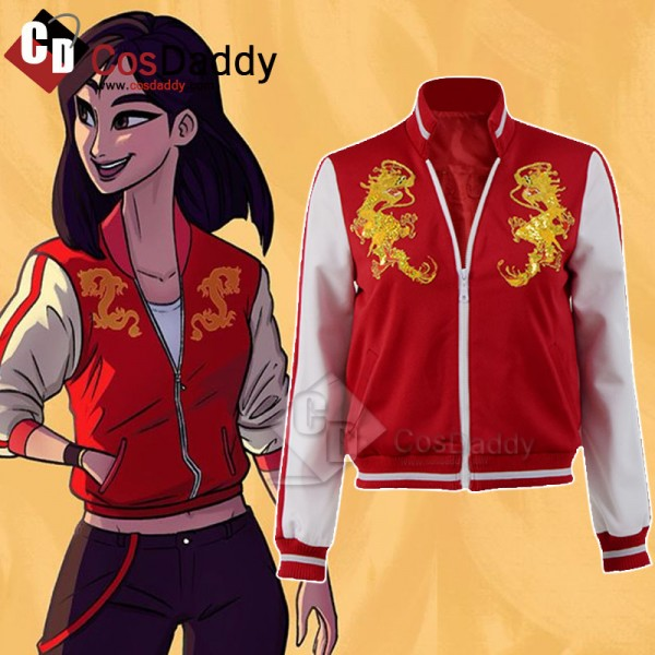 Ralph Breaks the Internet Hua Mulan Jacket Cosplay...