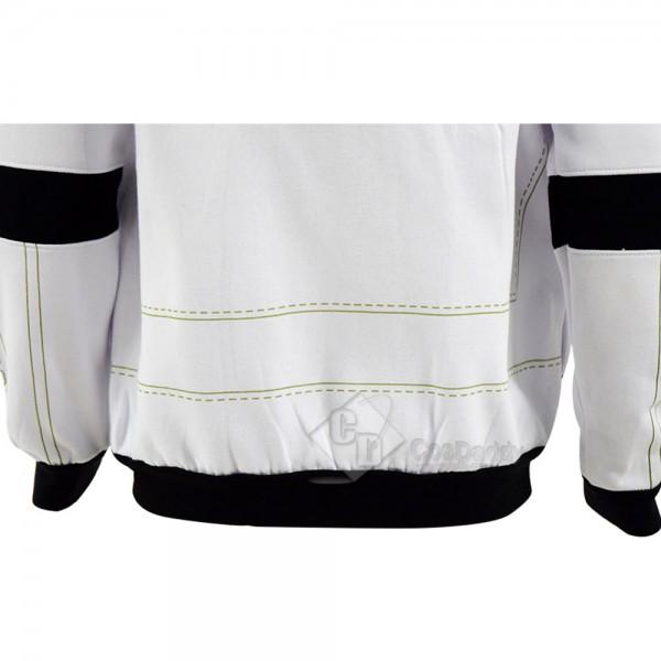 Star Wars Clone Trooper Cosplay Hoodie White Zipper Sweatshirt