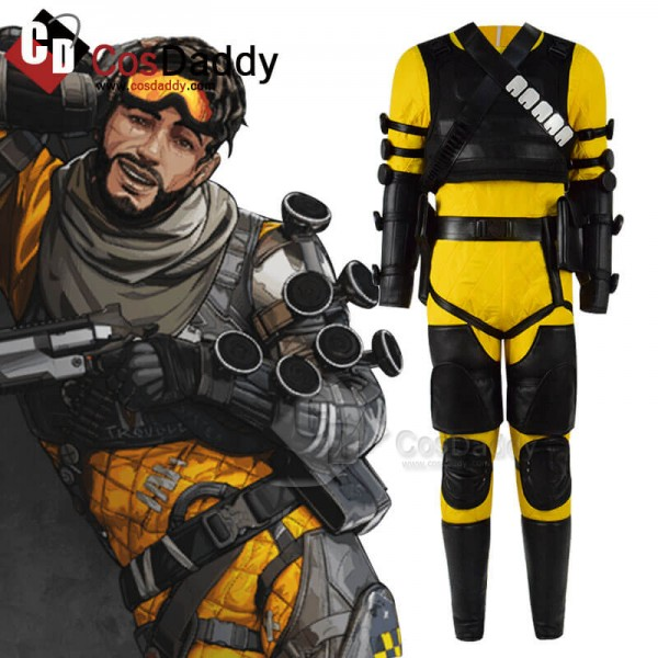 Apex Legends Mirage Yellow Full Set Cosplay Costum...