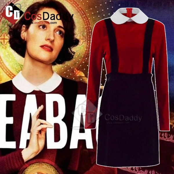 Fleabag Season 2 Suspender Skirt Red Shirt Outfit ...