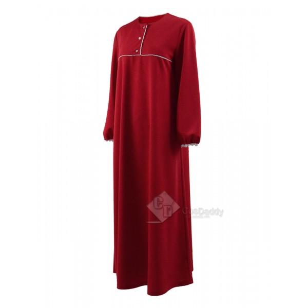 The Conjuring 2 Costume Red Sleep Dress Pajamas Skirt Cosplay