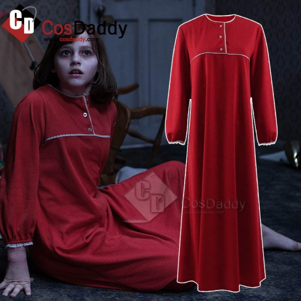The Conjuring 2 Costume Red Sleep Dress Pajamas Sk...