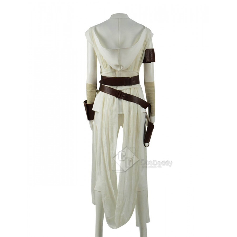 Star Wars The Rise Of Skywalker Rey Cosplay Costume White Outfit Full Set