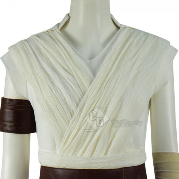 Star Wars: The Rise of Skywalker Rey Cosplay Costume White Outfit Full Set 2019