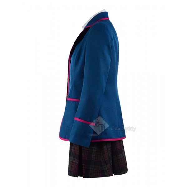 Adult The Umbrella Academy Blue School Uniform Outfit Cosplay Costume