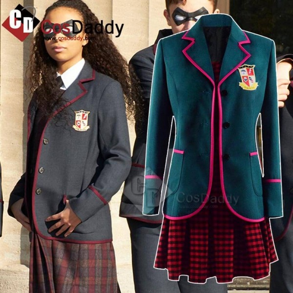 The Umbrella Academy Cosplay Outfit Girls School U...
