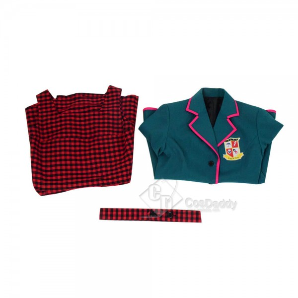 The Umbrella Academy Cosplay Outfit Girls School Uniform Red TV Costume