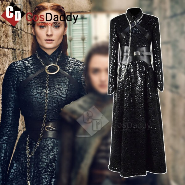 Game of Thrones Season 8 Sansa Stark Dress Black C...