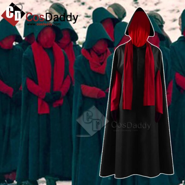 The Handmaid's Tale Offred Cosplay Black Long Dress Costume